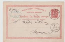 Nor082 / Hull, Shipletter 1889 Ex Bergen Nach Manchester - Norwegen