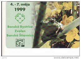 Slovaquie 1999, Slovak Telecom Chip, 23/99, Enviro Film - Frog-grenouille, Fauna,  Used - Slovaquie
