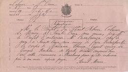 Sainte Croix Aux Mines  Télégramme Pour Colmar Transport De Corps - Telegraph And Telephone