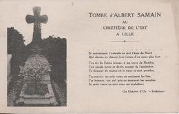TOMBE D ALBERT SAMAIN AU CIMETIER DE L EST A LILLE - Lille