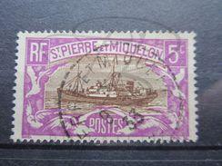 """VEND BEAU TIMBRE DE SAINT-PIERRE ET MIQUELON N° 139 , OBLITERATION """" ST-PIERRE ET MIQUELON """" !!! - Used Stamps"""