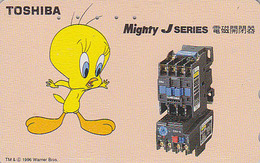 Télécarte Japon / 110-011 - BD Comics - Oiseau Canari TITI  / Toshiba - TWEETY Bird  Japan Phonecard Telefonkarte - 66 - BD