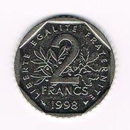 ) FRANKRIJK 2 FRANC 1998 - France