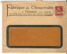 Suisse, Lettre Publicité Fabrique De Choucroute Thurnen Près Berne (9.10.25) - Lettres & Documents