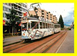 Thème Tramways :  à Genève Région Chenebourg  (scan Recto Et Verso ) - Strassenbahnen