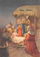 "D6486 ""BUON NATALE - EPIFANIA - RE MAGI - CAPANNA - GESU' BAMBINO""    CART  SPED 1966 - Natale"