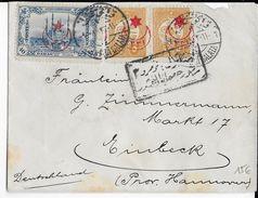 TURQUIE - 1914/18 - ENVELOPPE Avec CENSURE (VOIR DOS) De CONSTANTINOPLE => CASSEL (GERMANY) - 1858-1921 Empire Ottoman