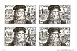 N° 929  épreuve En Noir Bloc De 4 Issue De Poinçon Originaux Conservés Au Musée De La Poste Net 5.50 € - Prove Di Lusso