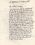 Lettre  Autographiée De Monseigneur BOYER - MAS,  Adressée Au Colonel REMY - Autographes