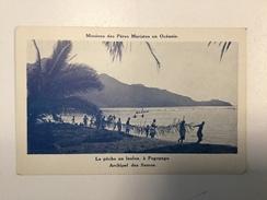 AK   MISSIONS DES PERES  MARISTES EN OCEANIE  LA PECHE AU LAULOA A PAGOPAGO     ARCHIPEL DES SAMOA - Samoa