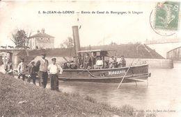St - Jean - De - Losne . Entrée Du Canal De Bourgogne , Le Linguet . - France