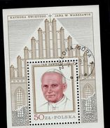 Polen Block 76 Papst Johannes Paul II Used Gestempelt - Blocks & Sheetlets & Panes