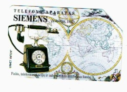 LITUANIE 1997, TELEPHONE SIEMENS, Used Magnetic Telephone Card /  Utilisée. R612 - Lituanie