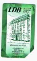 LITUANIE 1997, BANQUE LDB, Used Magnetic Telephone Card /  Utilisée. R609 - Lituanie