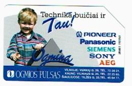 LITUANIE 1997, OGMIO PULSAS, Used Magnetic Telephone Card /  Utilisée. R610 - Lituanie