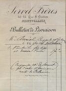 Bulletin De Livraison De SERVEL FRERES à Montpellier à Mr AURIOL - Datée 22.09.1888 - France