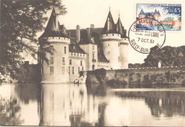 France Carte Maximum Du 7 Octobre 1961 à Sully-sur-Loire Le Château - 1960-69