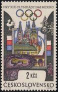 Czechoslovakia / Stamps (1968) 1676: XIX. Summer Olympics Mexico 1968 (Prague Historical Monuments); Painter: J. Liesler - Stamps