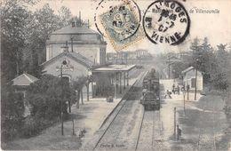 CPA 82 MONTAUBAN GARE DE VILLENOUVELLE (train En Gare - Montauban