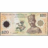 TWN - BRUNEI 34a - 20 Ringgit 2007 40th Ann. Currency Singapore-Brunei - Prefix A/1 UNC - Brunei