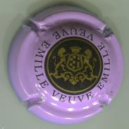 CAPSULE-CHAMPAGNE EMILLE VEUVE N°07 Violet Pâle Noir & Or - Champagnerdeckel