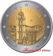 "LITAUEN 2 Euro 2017 ""Vilnius"" Aus Rolle - Lithuania"