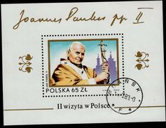 Polen Block 91 Papst Johannes Paul II Used Gestempelt - Blocks & Sheetlets & Panes