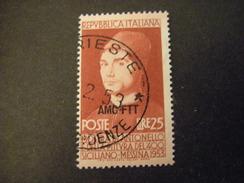 TRIESTE - AMGFTT. 1953, ANTONELLO DA MESSINA, Usato, TB - 7. Triest