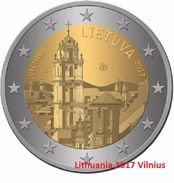 LITUANIA - 2 Euro 2017 - VILNIUS  - UNC - Lithuania