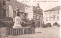 Puymirol . Place Nationale Et La Halle .Monument Aux Morts . - France
