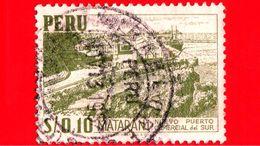 PERU - Usato - 1953 - Matarani - Nuovo Porto Commerciale - 0.10 - Peru
