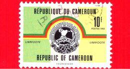 CAMERUN - Usato - 1993 - Calcio - Soccer - Linafoote League - Stemma - 10 - Cameroun (1960-...)