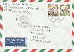 Italia 1986 Roma Prati Ufficio Mobile Basilica S. Pietro Cover To Iraq - 1946-.. Republiek
