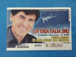 CARTOLINA LOTTERIA ITALIA ANNO 2002 UNO DI NOI - Loterijbiljetten