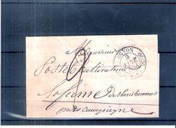 France Précurseur - 9 Janvier 1834 De Noyon à Compiègne (à Voir) - Marcophilie (Lettres)