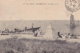 17.  ILE D´OLERON. BOYARDVILLE. CPA PEU COURANTE DE LA PLAGE. ANNÉE 1921 - Ile D'Oléron