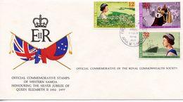 SOMOA - HONOURING SILVER JUBILEE OF QE11 1977  FDC119 - Samoa