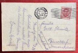 FLOREALE L.75 C. SU Cartolina PER L'ESTERO DA VENEZIA A DUSSELDORF Il 19/8/29 - 1900-44 Vittorio Emanuele III