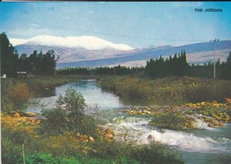 ISRAEL----JORDAN RIVER And MT. HERMON Covered With Snow---voir  2 Scans - Israel