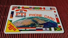 Prepaidcard PTI Us 10 $ Used Rara - Sonstige