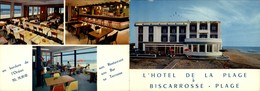 40 - BISCAROSSE - CARTE DOUBLE PUBLICITAIRE - Hotel De La Plage - Biscarrosse