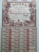 Action - Asie - Savana Sté Industrielle Commerciale Et Financiere A Pondichéry Inde - Bordeaux 1952 - Asia