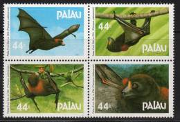 PALAU - 1987 - N°154/7 ** Chauve-souris - Palau
