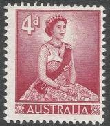 Australia. 1959-63 QEII Definitives. 4d Type II MNH. SG 313b - 1952-65 Elizabeth II : Pre-Decimals