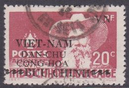 North Vietnam 1L 13 1946 Auguste Pavie 20c Red Used - Vietnam