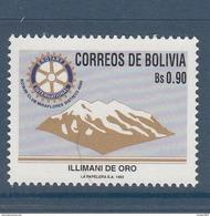 1992 Bolivia Rotary International Organisation   Complete  Set Of 1 MNH - Bolivië