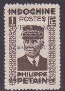 North Vietnam 1L 21 1945 Philippe Petain 1c Brown MNG - Vietnam