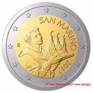 SAN MARINO 2 EURO 2017 - NEW NATIONAL COIN DESIGN - UNC Quality - San Marino