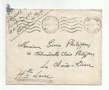 OBLITERATION MECANIQUE SUR LETTRE DE LUNEVILLE MEURTHE ET MOSELLE DU 25/10/1939 - Postmark Collection (Covers)