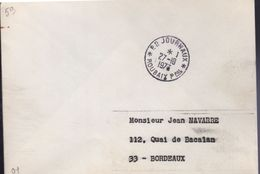 "Lettre  *P.P. Journaux* Roubaix Ppal 27 -I0 I977   "" Cachet Manuel Circulaire, - Postmark Collection (Covers)"